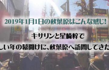 2019年1月1日の秋葉原はこんな感じ!『ご注文はうさぎですか?』『ラブライブ!サンシャイン!!』など!!
