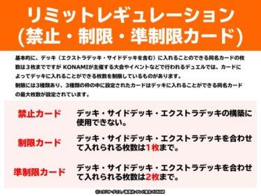 「遊戯王OCG」新リミットレギュレーション公開!デュエルリンクスではKCカップ、お得なセールを開催中!! 【アニメニュース】